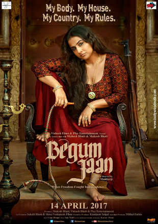Poster of Begum Jaan 2017 Full Hindi Movie Free Download In HDRip 720p