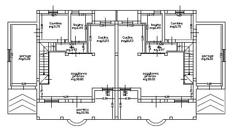 Progetti di case in legno casa bifamiliare 2 x 175 mq for Progetti interni case