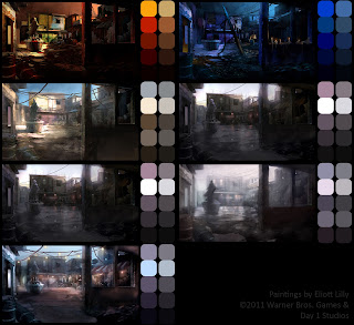 Color Studies and Explorations on Favela Courtyard