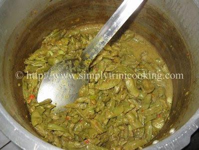 Rice and Curry Seim (Hyacinth Bean)