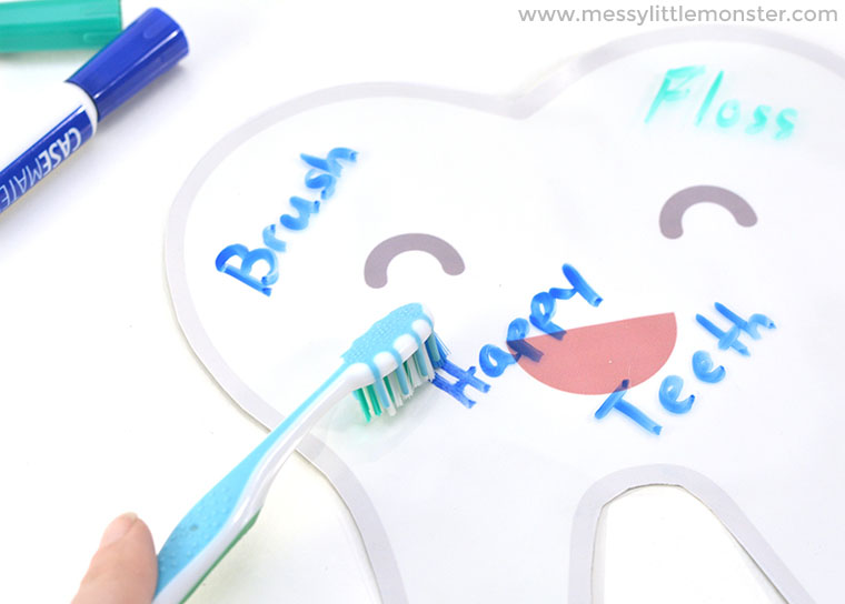 dental activities for preschoolers - tooth brushing