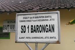 Profil Perpustakaan Sekolah SD I BARONGAN, Desa SUMBERAGUNG, Bantul Yogyakarta