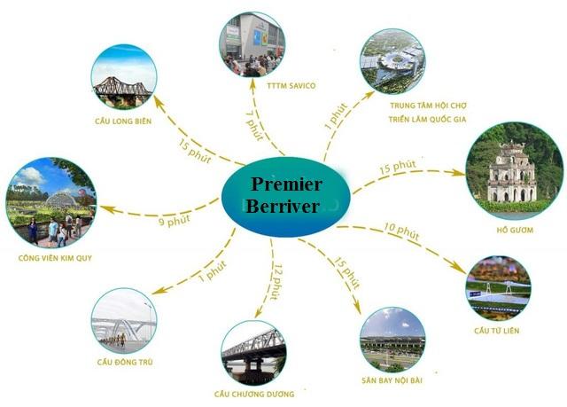 Vị trí liên kết vùng của Premier Berriver Long Biên