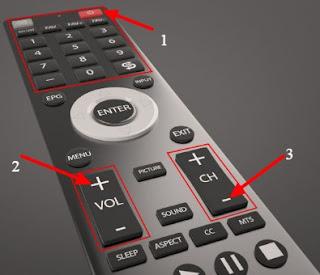 cara setting remote tv dengan tombol volume