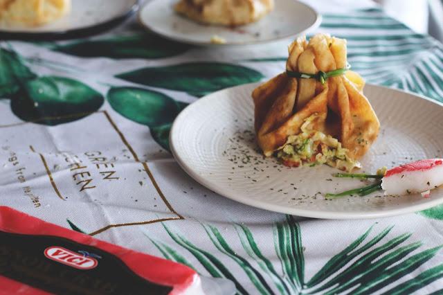 crepes salados  surimi y guacamole receta kidsandchic