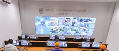 Números demonstram eficiência do COI (Centro de Operações Integradas) de Taubaté