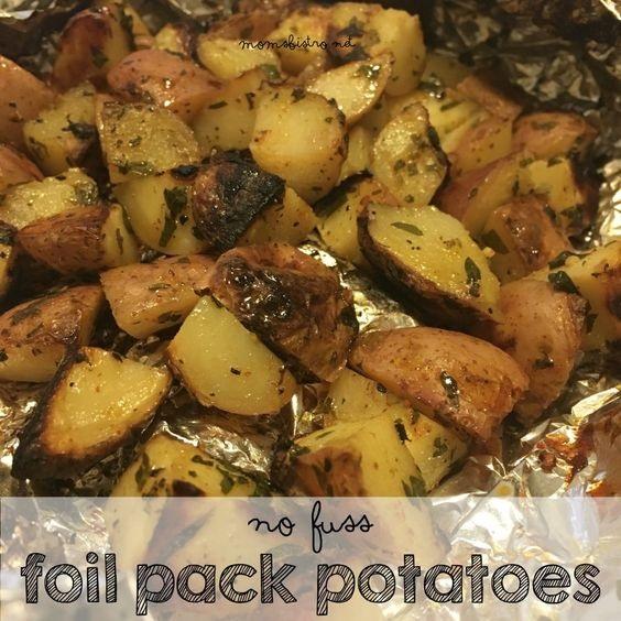 No Fuss Foil Pack Potatoes