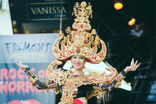 Mengagumkan, Dengan Kostum Seberat 15kg Ariska Putri Behasil Memenangkan Best National Costume