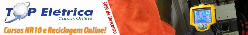 Cursos NR10 Online! Conheça: www.topeletrica.com.br