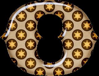 Abecedario con Estrellas de Sherif. Alphabet with Sheriff Stars.