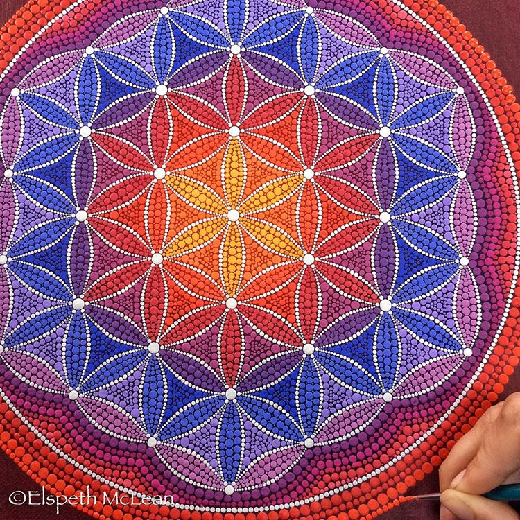 20-Serene-Elspeth-McLean-Dotillism-Paintings-Mandala-on-Stones-Canvas-and-Clothes-www-designstack-co