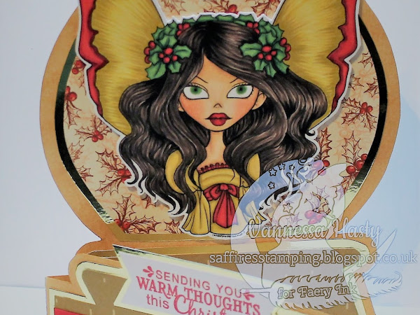 Ophelia Holly and Bows Fae Snow Globe