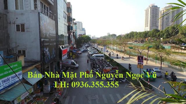 Bán tòa nhà mặt phố Nguyễn Ngọc Vũ