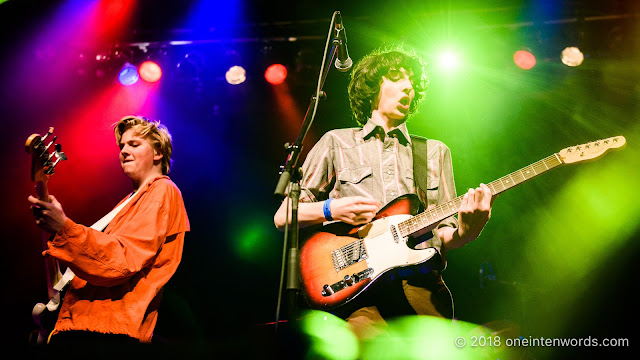 Jack Anderson and Finn Wolfhard of Calpurnia at The Phoenix Concert Theatre on October 20, 2018 Photo by John Ordean at One In Ten Words oneintenwords.com toronto indie alternative live music blog concert photography pictures photos