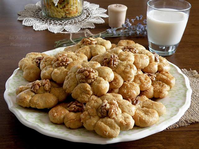 Домашни курабийки с орехи