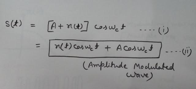 Equation of Amplitude Modulation, Equation of Amplitude Modulation in Time Domain
