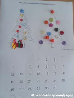 molde-arbol-navidad-calendario