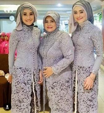 Busana Baju Kebaya Brokat Muslim Untuk Wanita Gemuk Berjilbab
