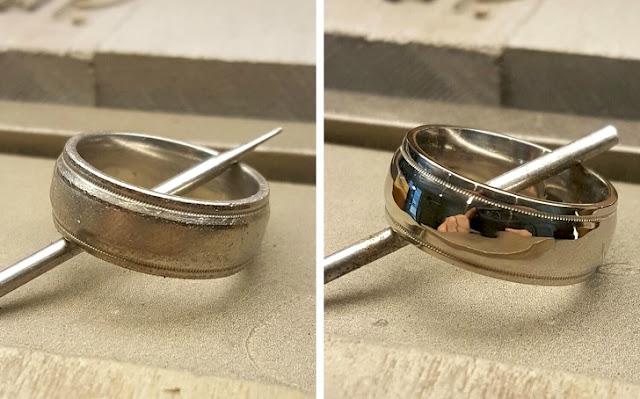 Um anel que não foi limpo a 20 anos