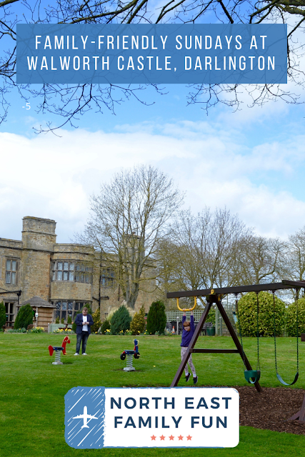 Sunday Lunch, Playgrounds & Birds of Prey at Walworth Castle, Darlington