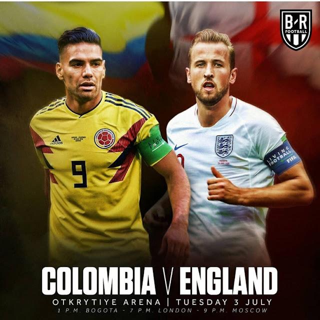 Prediksi Kolombia vs Inggris, 3 Juli 2018