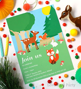 Woodland Animals Invitation