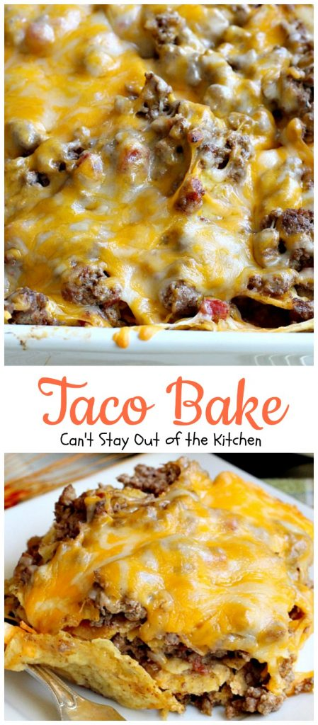 Easy Taco Bake Recipes #tacobake #bake #tortilla