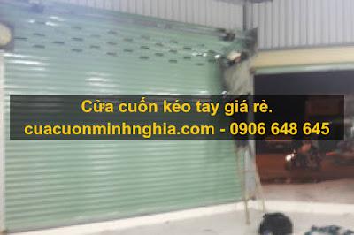 CỬA CUỐN KÉO TAY GIÁ RẺ/0906648645
