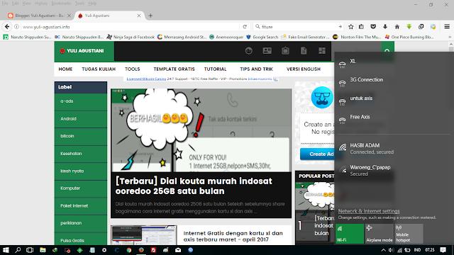 Cara mengaktifkan fitur mobile hotspot windows 10