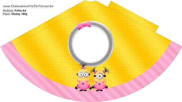 Sombrero  de Minions Chicas para imprimir gratis.