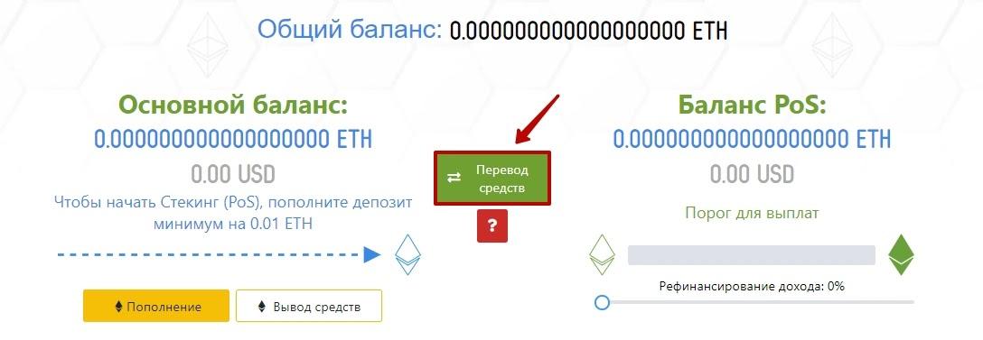 Активация депозита в EtherBee