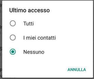 accesso WhatsApp