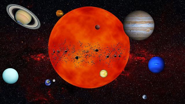 كسوف الشمس في الكواكب الأخرى