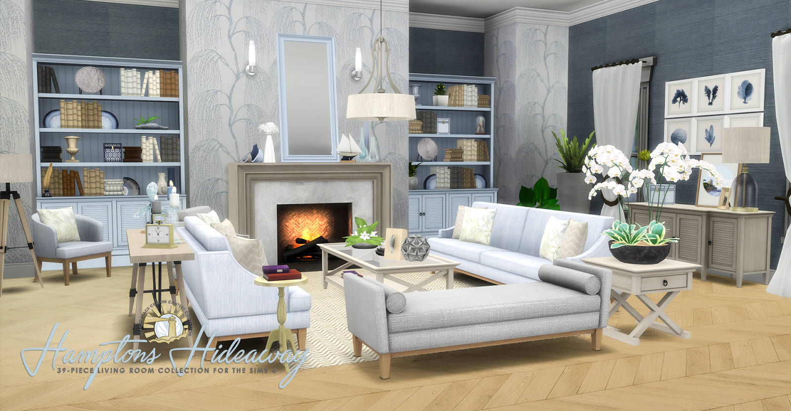 sims 4 cc's - the best: hampton hideaway living room set by, Badezimmer ideen
