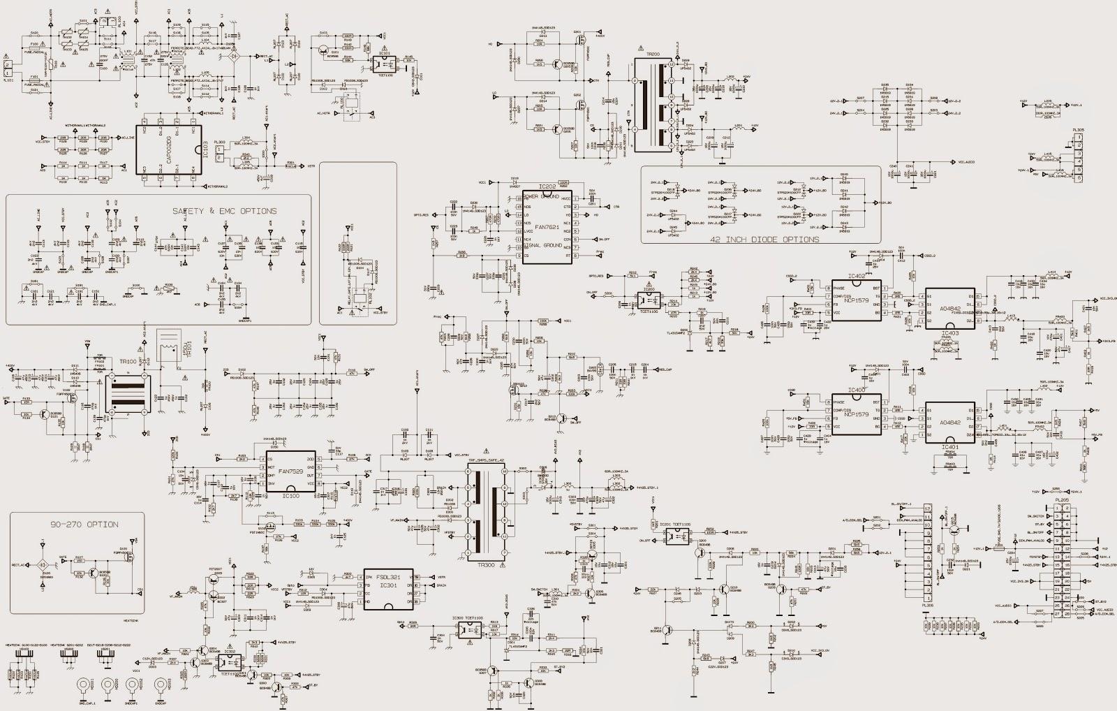 Smps Schematic Diagram Dsc 1616 Wiring Electro Help Vestel 17pw07  Power Supply