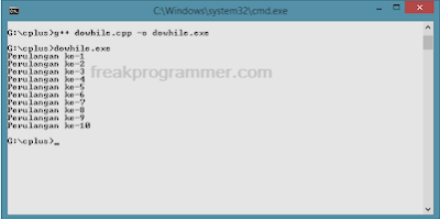 Pembahasan Perulangan Do While C++