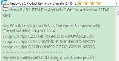 windows 8.1 product key search