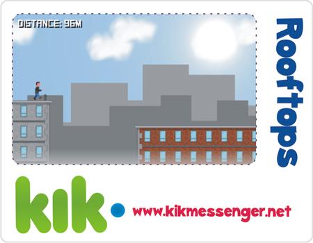 Diviertete con el juego de Rooftops for Kik