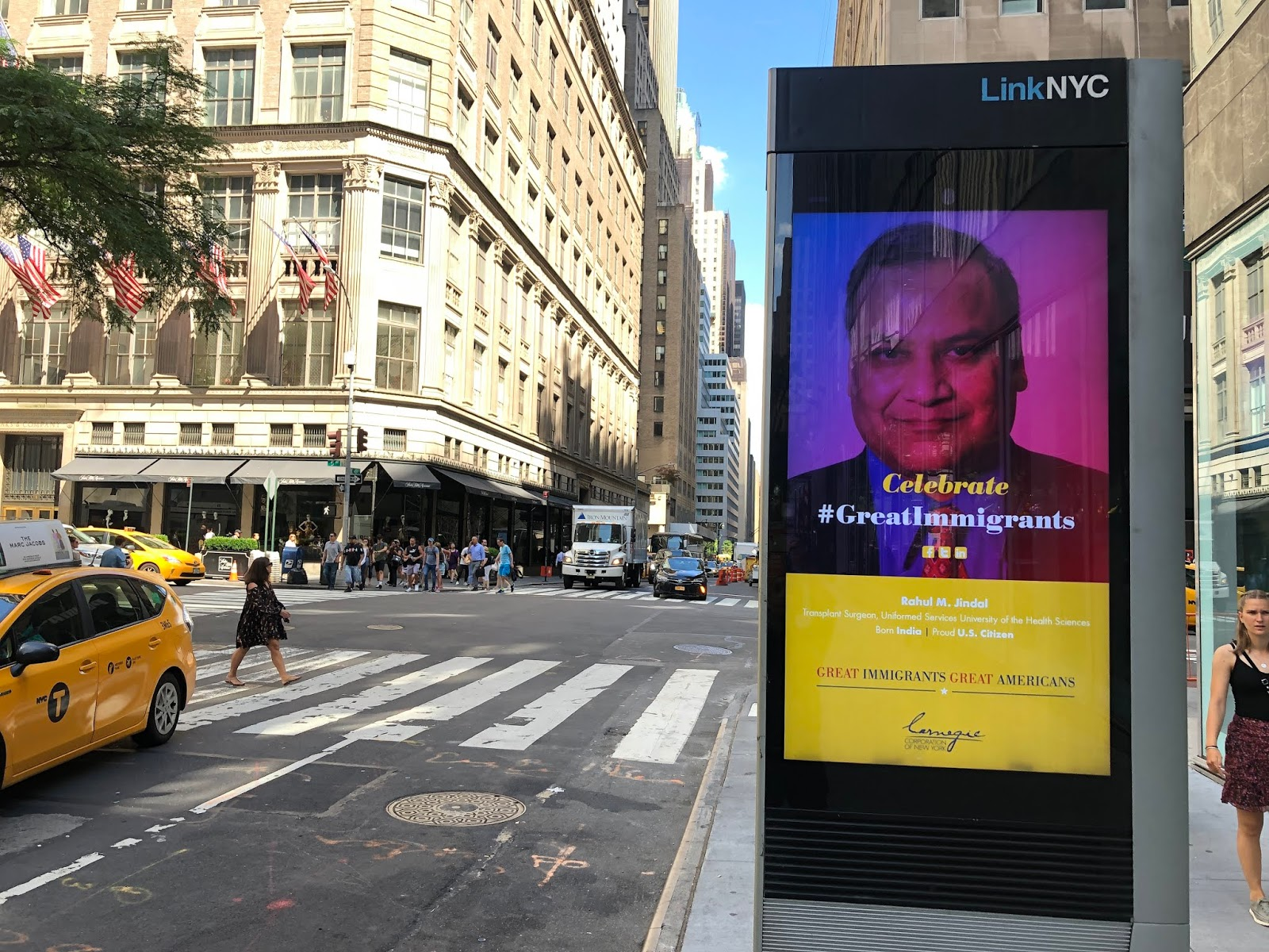 bus stop poster in NYC of Jindal