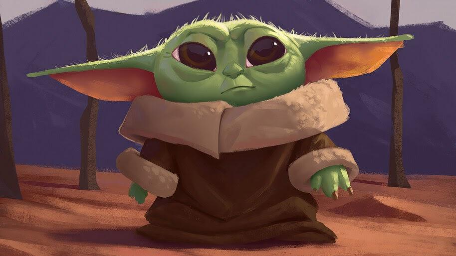 Baby Yoda, Art, 4K, #7.759
