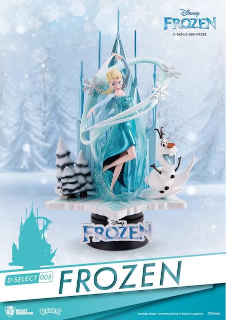 """Abierto el pre-order para la figura D-Select 005 de Elsa y Olaf de """"Frozen"""" - Beast Kingdom"""