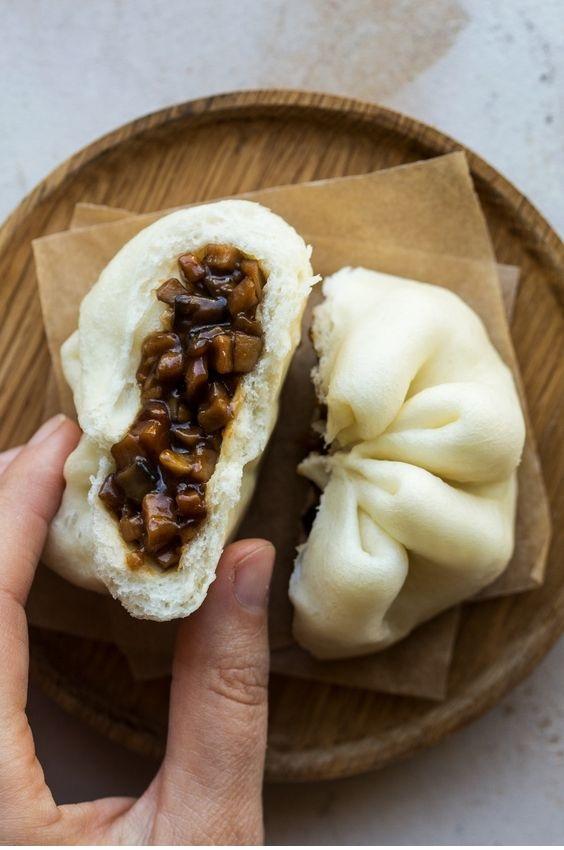 Vegan Char Siu Bao (Sticky Pork Buns)