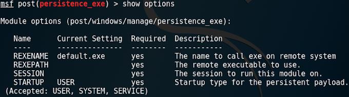 Sử dụng post persistence_exe để cài phần mềm Startup trên Windows - Metasploit