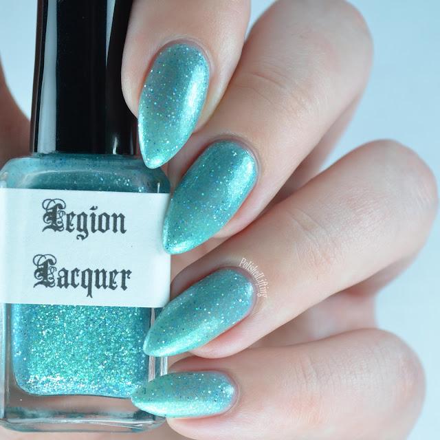 aqua shimmer nail polish