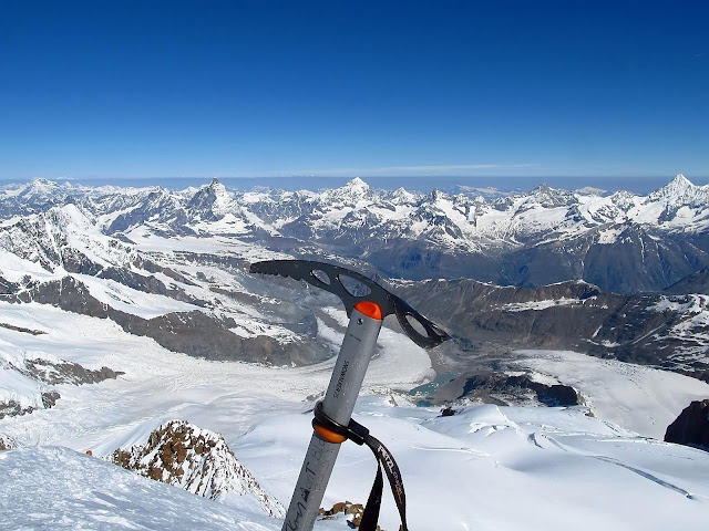 Na szczycie Dufourspitze