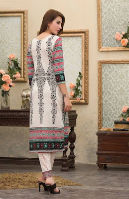 Batik stylish summer women lawn dresses collection