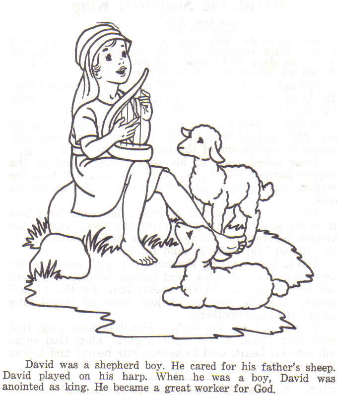 Images In My Treasure Box Pictures Shepherd 58 Best Coloring Generic On David The Boy Colouring Page