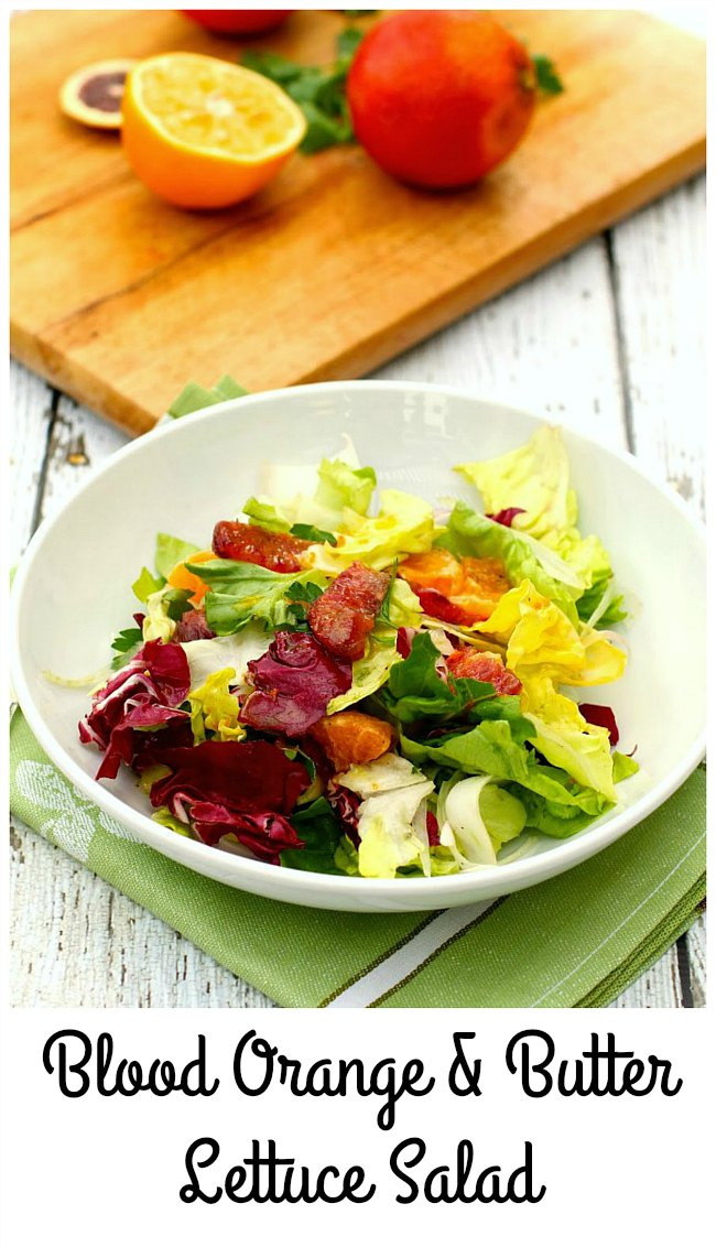 Blood Orange, Butter Lettuce, Radicchio, and Endive Salad with Fennel and Tangelos #bloodoranges #salad #saladrecipe
