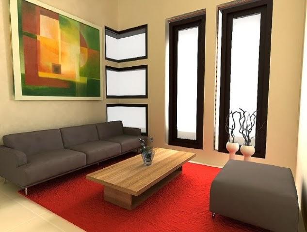 Contoh pemilihan warna cat rumah minimalis untuk desain ruang tamu