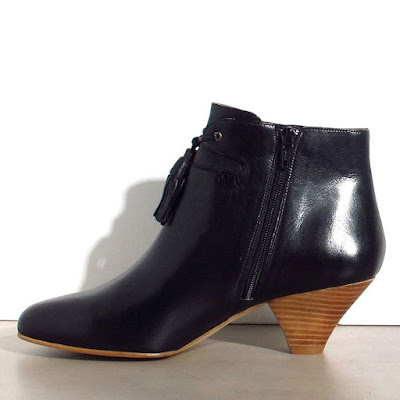 Bottines cuir noir Sessun